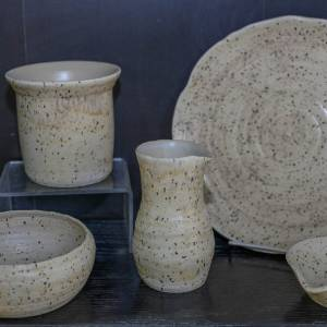 Hand thrown Stoneware oven to tableware