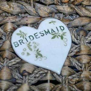 Pottery bespoke Personalised flatware such as hearts and coasters