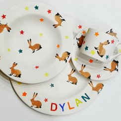 Children's dinnerware pottery