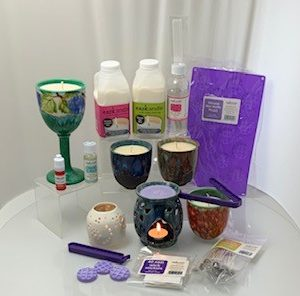 Candle making kits, Tea lights, Diffusers and Glass