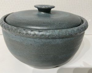 Robin egg blue Hand thrown stoneware oven to tableware