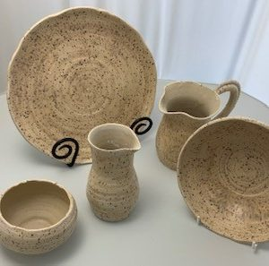 Oatmeal speckle oven to table ware