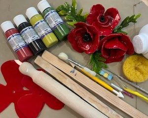 To do at home clay, bisque, and acrylic kits