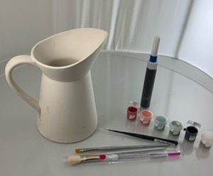 Adult pottery bisque kits to paint at home