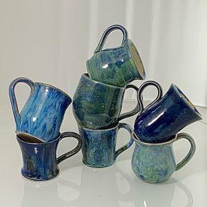 Porcelain and Stoneware glaze combinations mugs